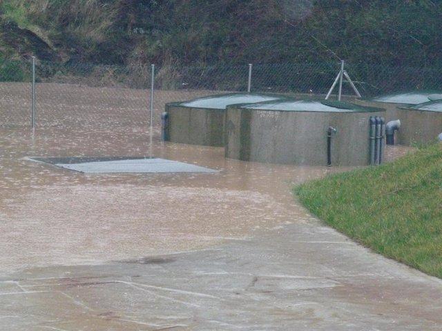 Inundaciones En La Depuradora De Pendueles