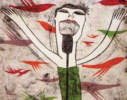 La Obra 'Cantante', Una De Las Piezas De La Muestra De Marina Anaya