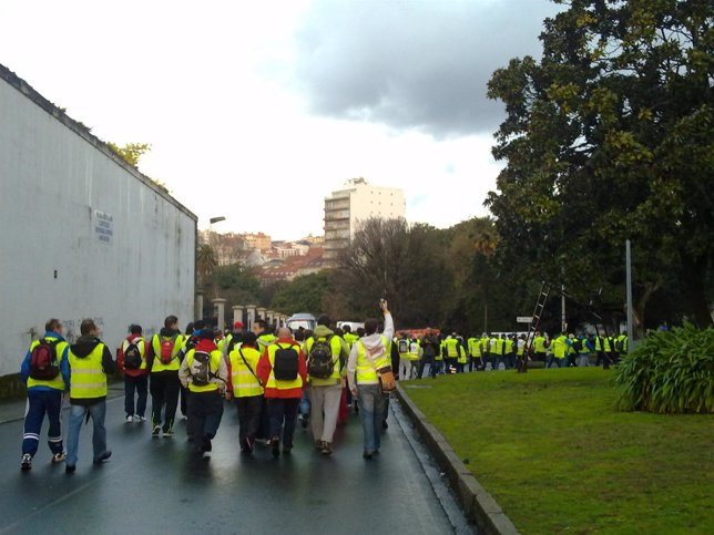 Marcha A Pide Del Sector Naval De La Ría De Ferrol