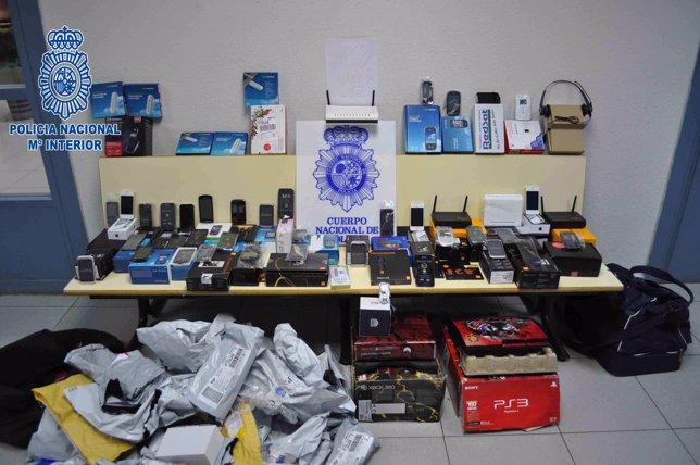 Objetos Incautados En La Operación