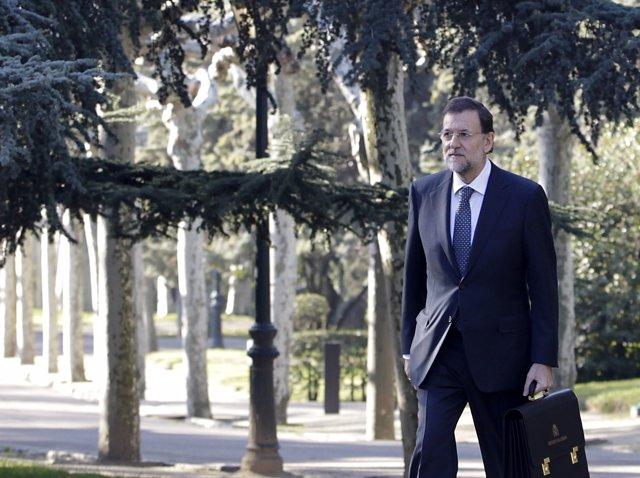Mariano Rajoy Llega A Moncloa