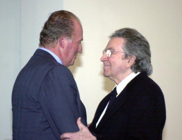El Rey Y Antoni Tàpies