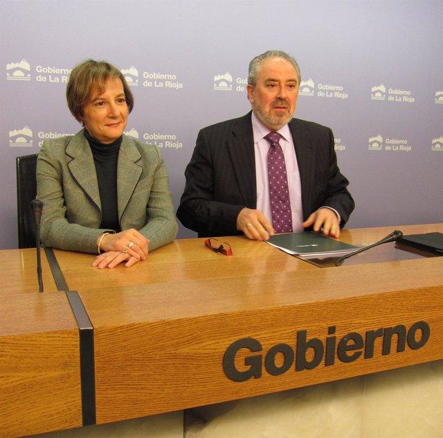 José Ignacio Nieto, Consejero De Salud, Y María Luz De Los Mártires