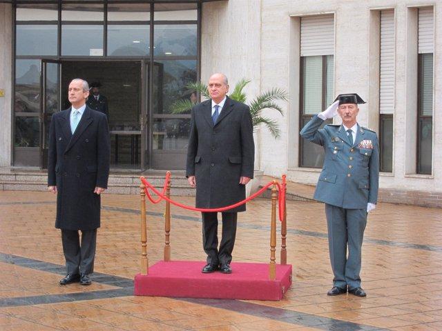 Jorge Fernández En La Jura Del Cargo Del Jefe De La Guardia Civil En Catalunya