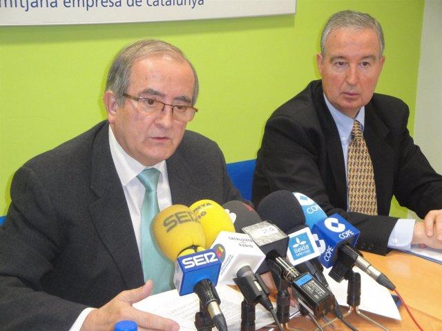 El Pte.De Pimec, Josep González (Izqda)
