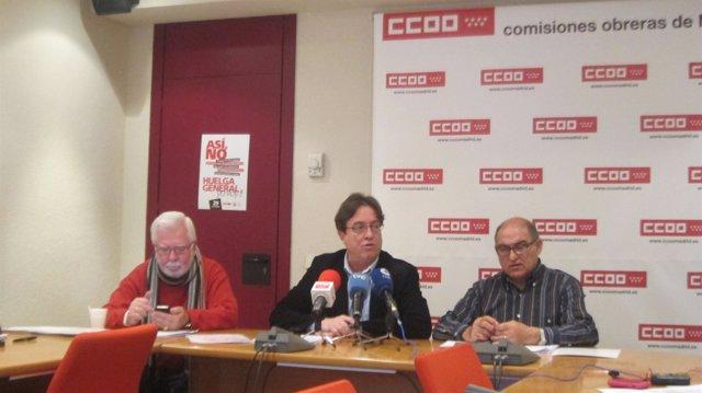 Rueda De Prensa De CC.OO. De Madrid Sobre Siniestralidad Laboral