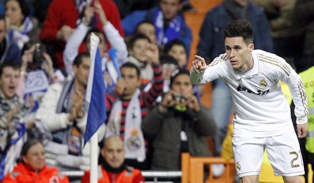 José Callejón Celebra Un Gol Ante La Ponferradina