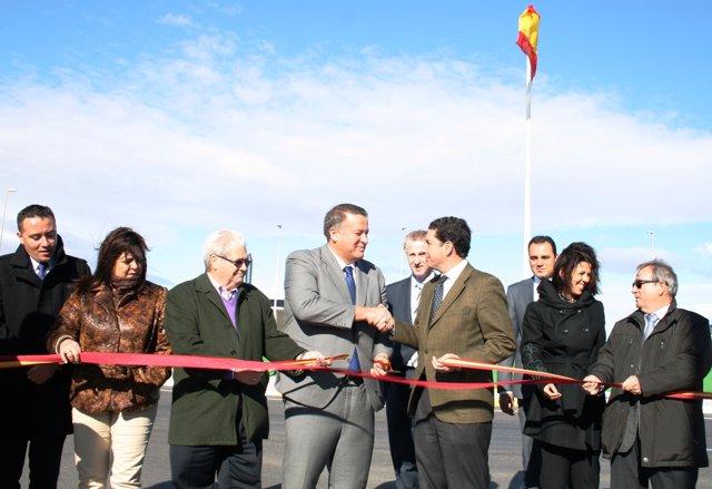 Inauguración De La Glorieta Que Da Acceso Al Polígono Lo Bolarín, En La Unión