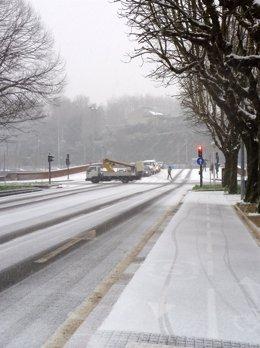 Nieve En San Sebastián.