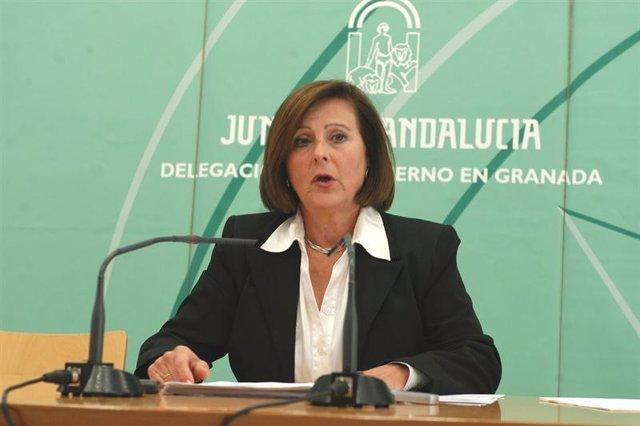 La delegada del Gobierno andaluz en Granada, María José Sánchez Rubio