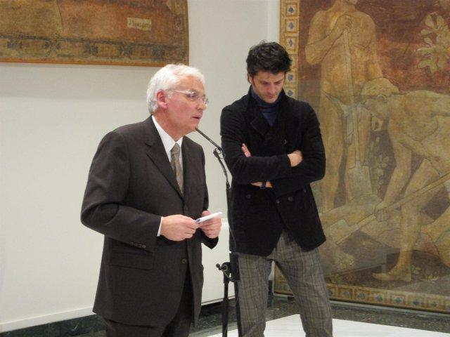 El Conseller Ferran Mascarell Y El Presidente De La ACC, Joel Joan