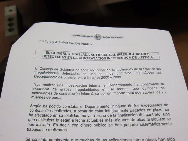 Acuerdo Del Consejo De Gobierno Vasco 7 Febrero