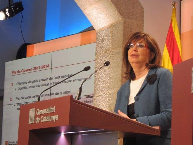 Irene Rigau, Consellera De Educación De La Generalitat