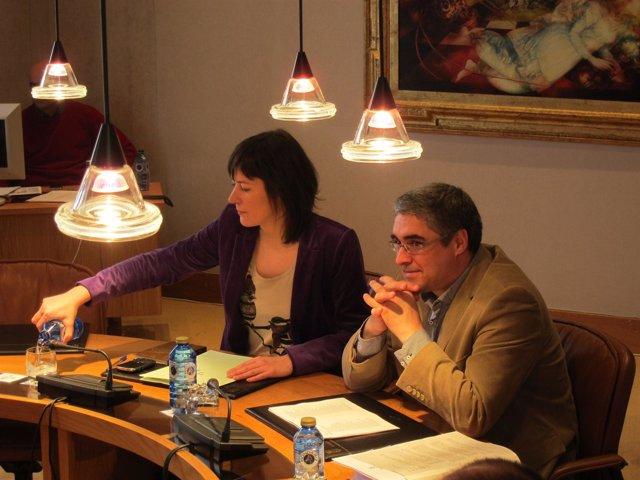 Ana Pontón y Carlos Aymerich