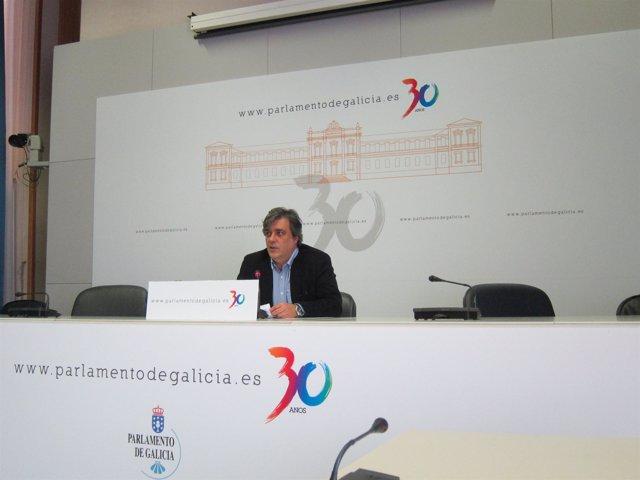El popular Pedro Puy en la rueda de la Xunta De Portavoces
