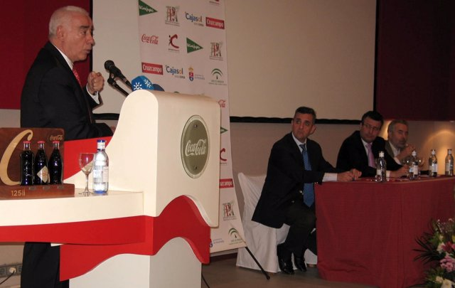 Luciano Alonso En El Congreso Anual De Periodistas Deportivos Andaluces