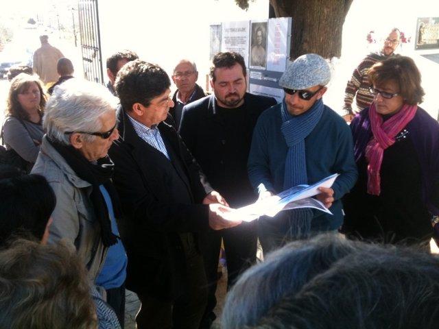 Diego Valderas, Durante La Visita