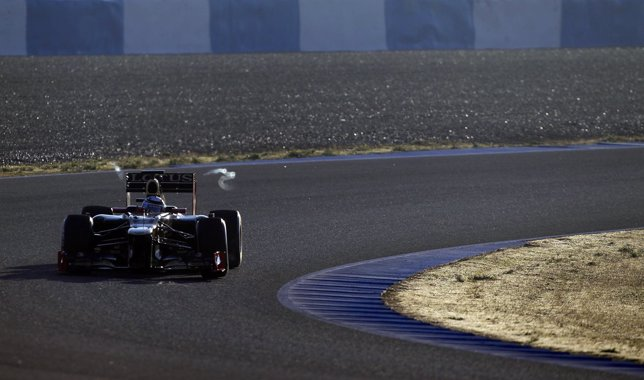Lotus Formula One Driver Kimi Raikkonen Of Finland Drives In Jerez
