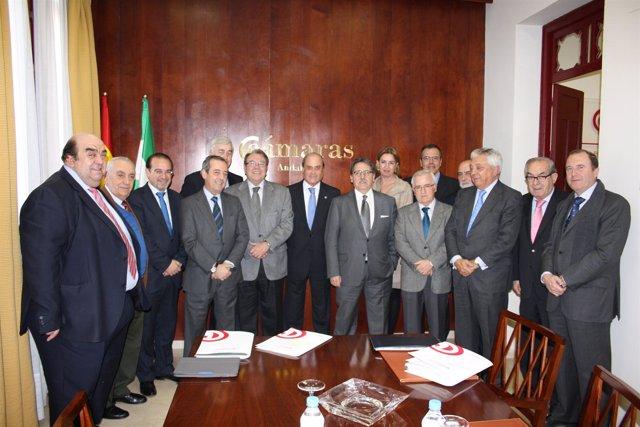 Visita Del Presidente Del Consejo Superior De Cámaras De Comercio A Andalucía.