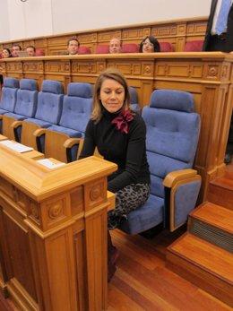 Cospedal En El Pleno De Las Cortes