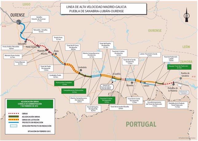 Adif Aprueba Cuatro Nuevos Tramos Del AVE A Galicia