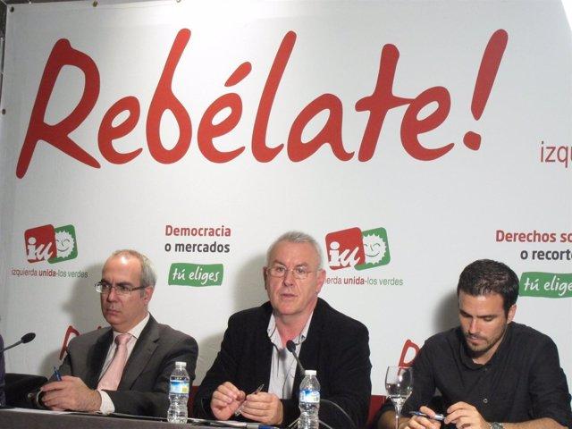 Cayo Lara, Pedro Moreno Brenes Y Alberto Garzón (IU)