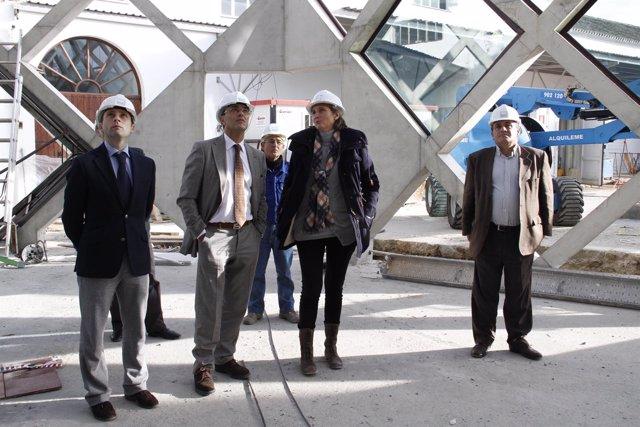 El Presidente De La Diputación Visita Las Obras Del Museo Del Vino.
