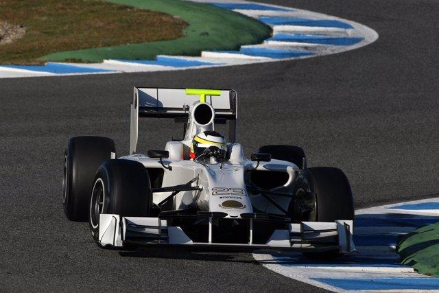 Pedro De La Rosa (HRT Team) En El Circuito De Jerez De La Frontera