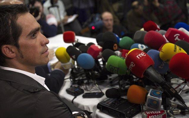 Alberto Contador En Rueda De Prensa Tras Conocer La Decisión Del TAS
