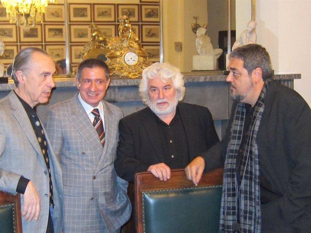 Cristóbal Gabarrón, Jesús Fonseca, Luis Alberto De Cuenca Y Carlos Aganzo