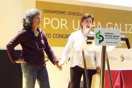 Lidia Senra Con La Actual Responsable Del SLG, Carmen Freire