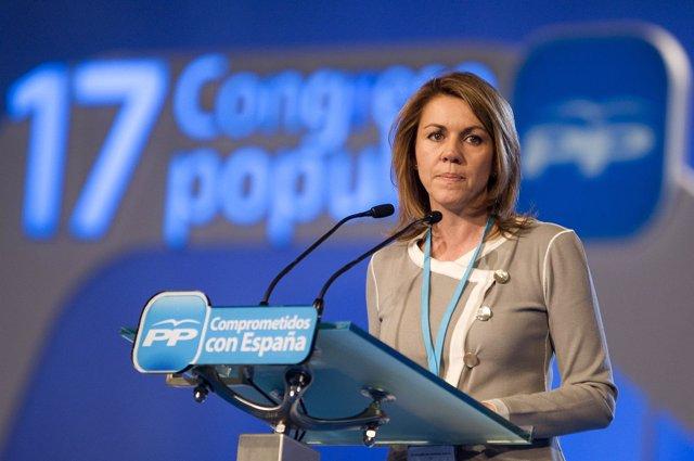 MARIA DOLORES DE COSPEDAL EN LA PRESENTACION DEL 17 CONGRESO DEL PP EN SEVILLA