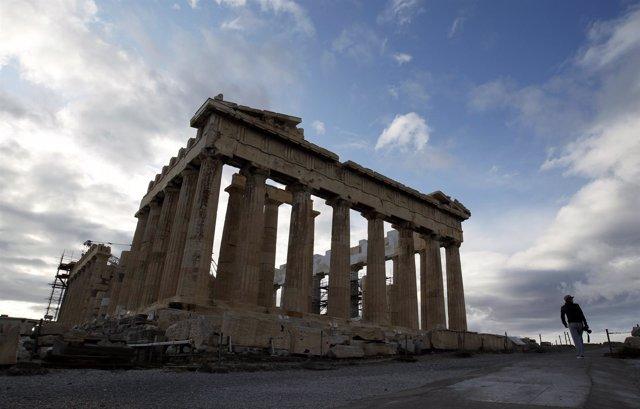 Vista Del Partenón De Atenas (Grecia)