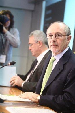 Rodrigo Rato Y Francisco Verdú Presentan Los Resultados De Bankia