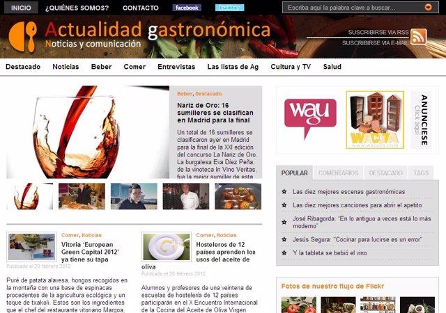 Captura De La Web Www.Actualidadgastronomica.Es