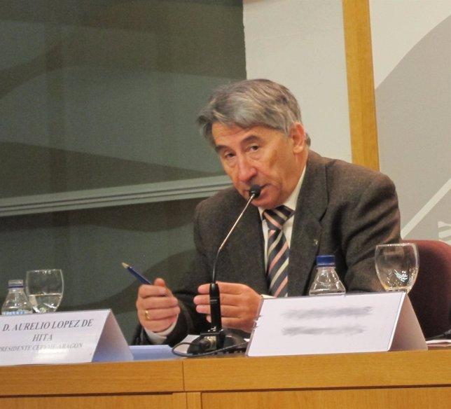 El Presidente De Cepyme-Aragón, Aurelio López De Hita
