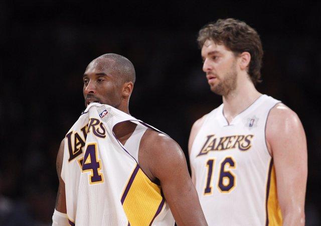 Pau Gasol Y Kobe Bryant, De Los Angeles Lakers