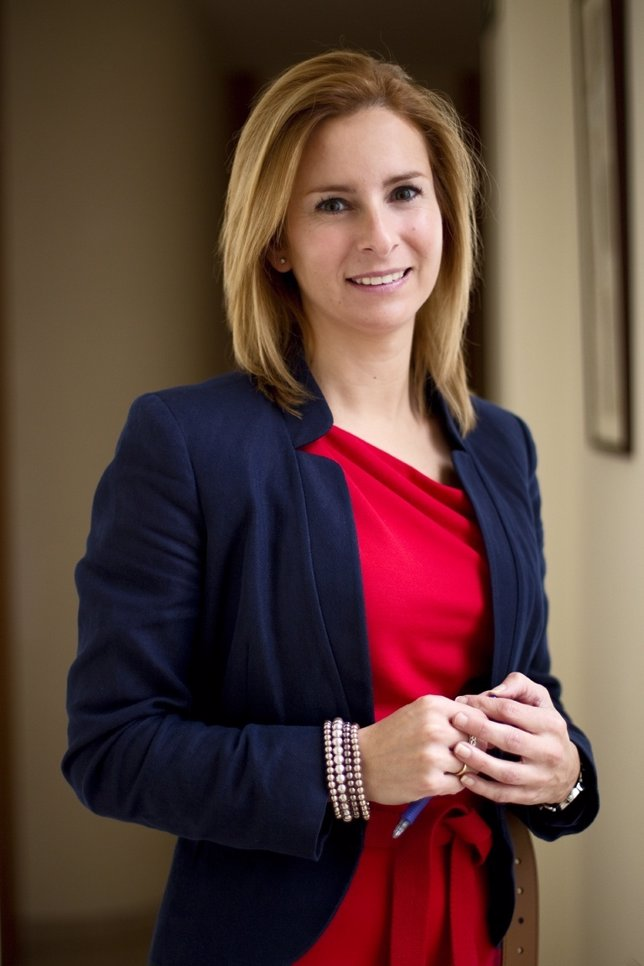 La Presidenta De AJE Galicia, Patricia García