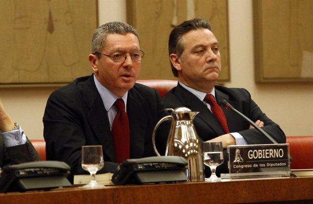 Comparecencia De Alberto Ruiz-Gallardón En El Congreso