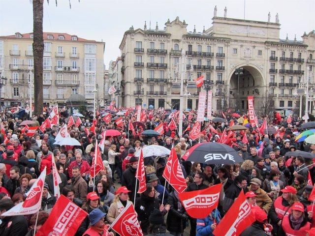 Manifestación Contra Reforma Laboral