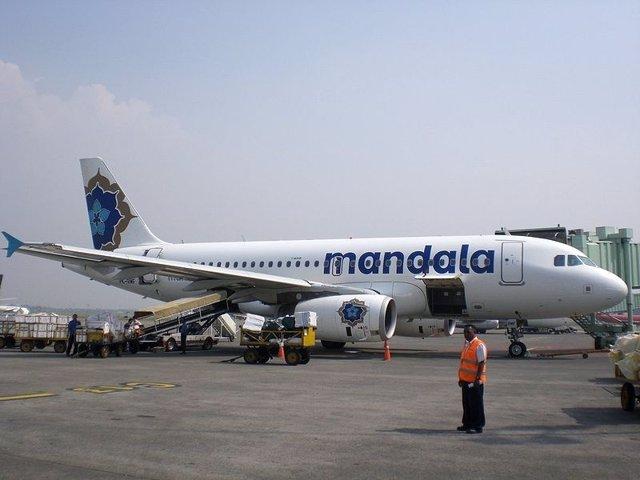 Un Avión De Mandala Airlines