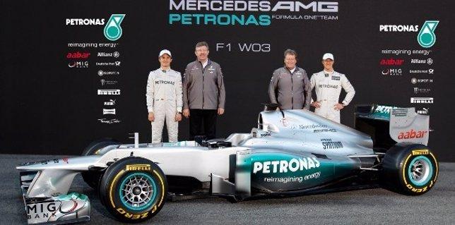 Schumacher Y Rosberg Presentan El 'W03'