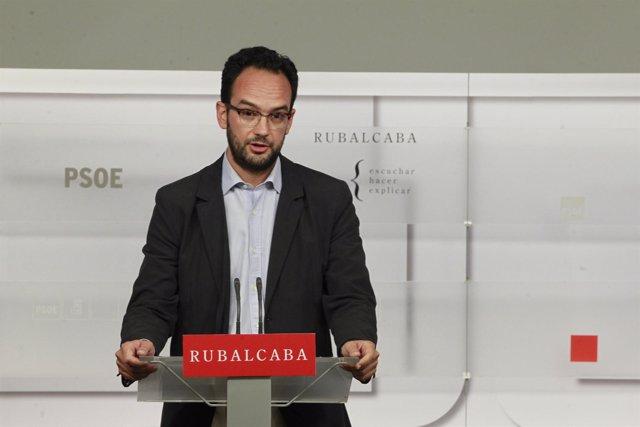 Antonio Hernando,  secretario de Política Institucional del PSOE