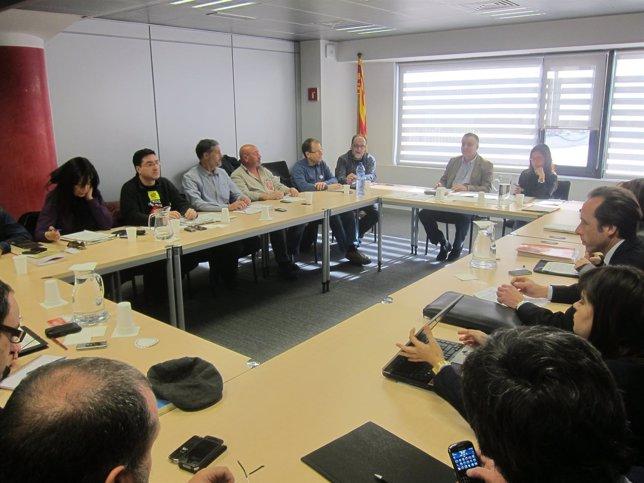 Reunión De Trabajadores De Metro De TMB Con La Generalitat