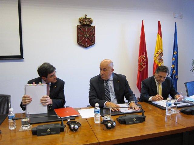 El Consejero De Educación, José Iribas, En El Parlamento.