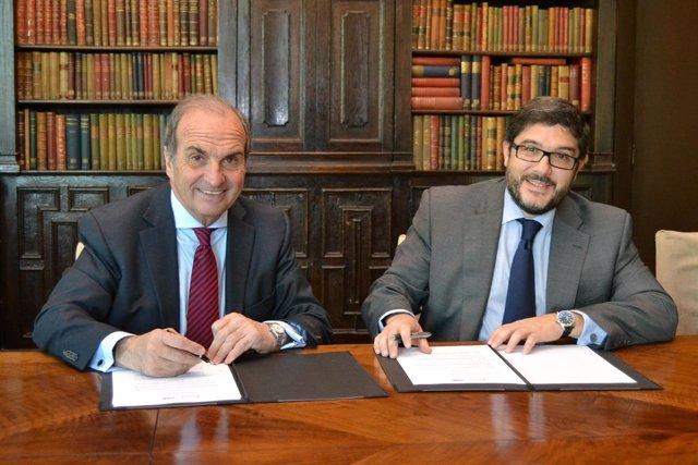 Joaquim Gay De Montellà (Fomento Del Trabajo) Y Santiago Solanas (Sage)