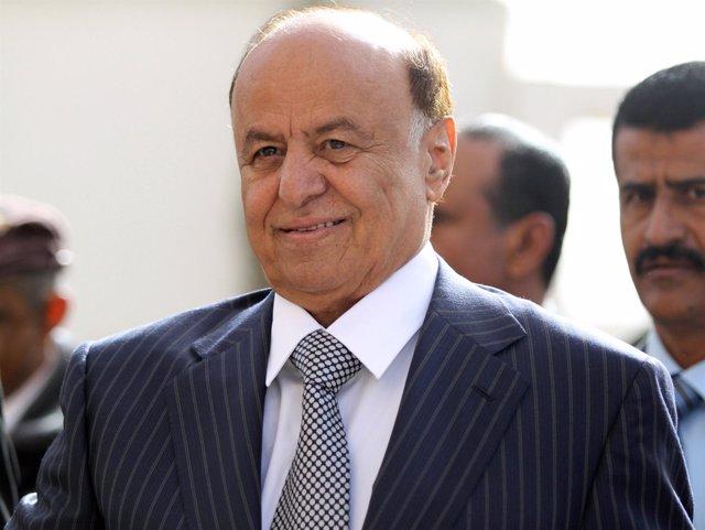 El Vicepresidente De Yemen, Abd-Rabbu Mansour Hadi, Antes De Votar