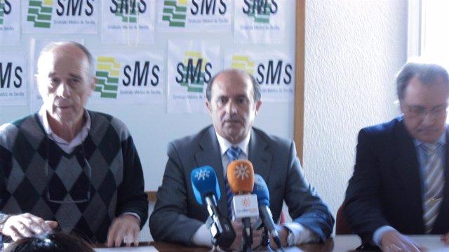 Miembros Del Sindicato Médico De Sevilla Durante Su Comparecencia