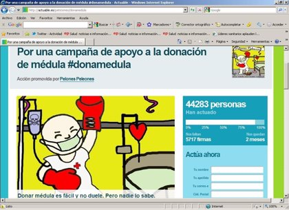Más de 44.000 personas piden a Sanidad una campaña donación de médula