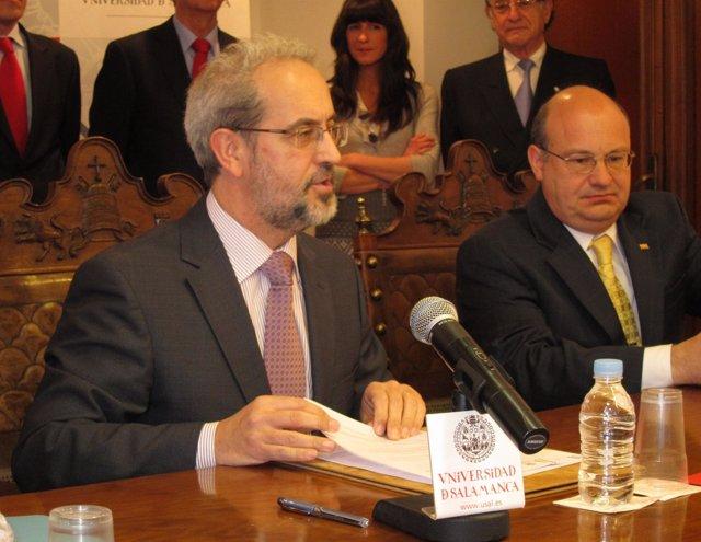 El Rector De La Universidad De Salamanca, Daniel Hernández Ruipérez